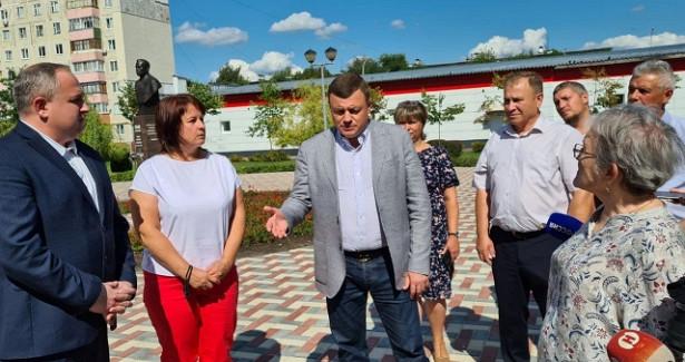 Глава Тамбовщины проинспектировал благоустройство областного центра