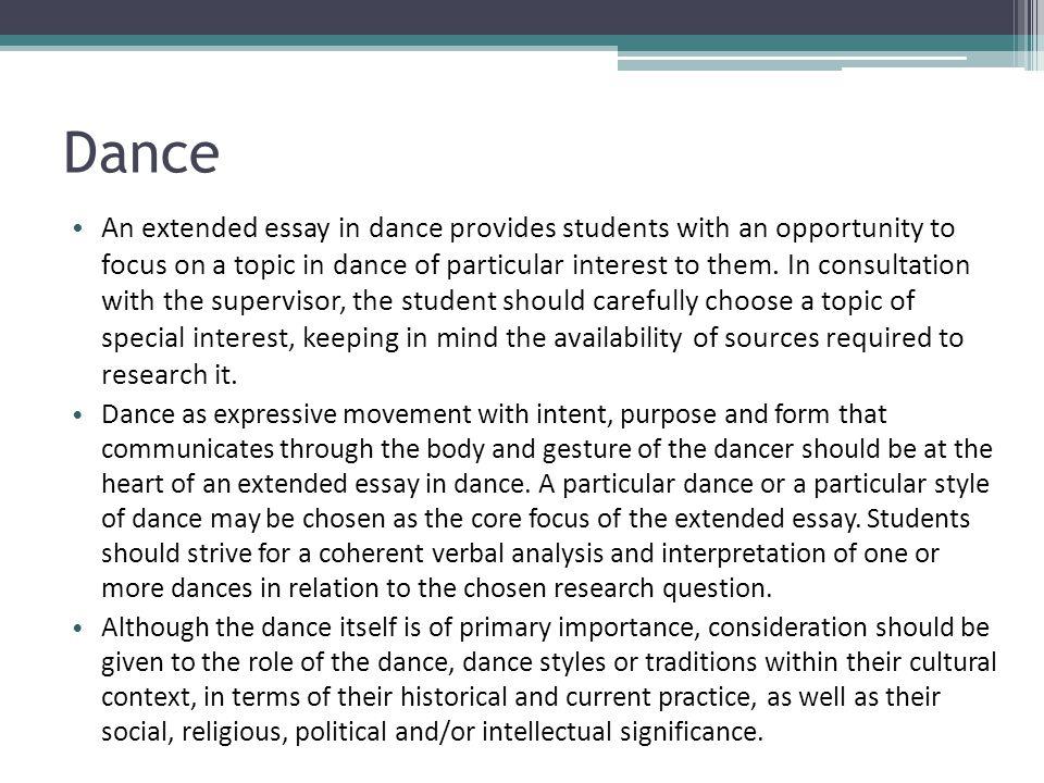 Write my dance essay topics
