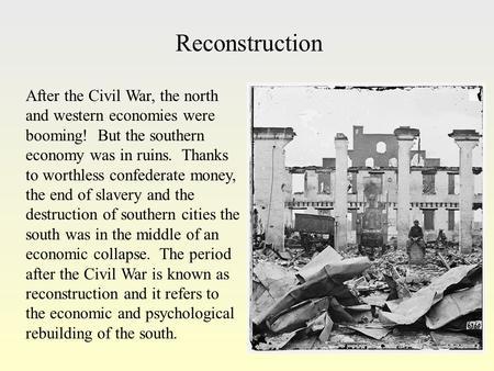 Reconstruction After The Civil War Essay Reconstruction Essay Essays