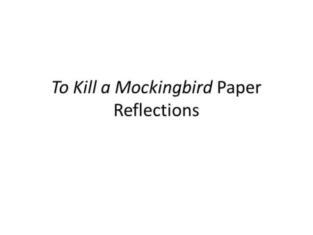 Write my to kill a mockingbird research paper