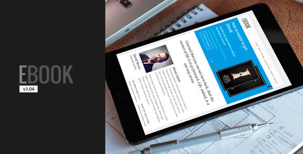Responsive Free HTML5 eBook Landing Template with