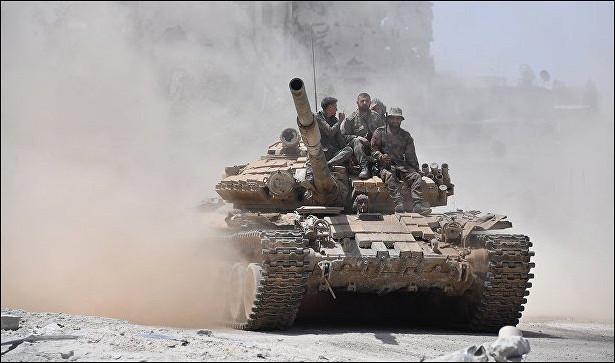 Сирийские боевики сдают тяжелое вооружение