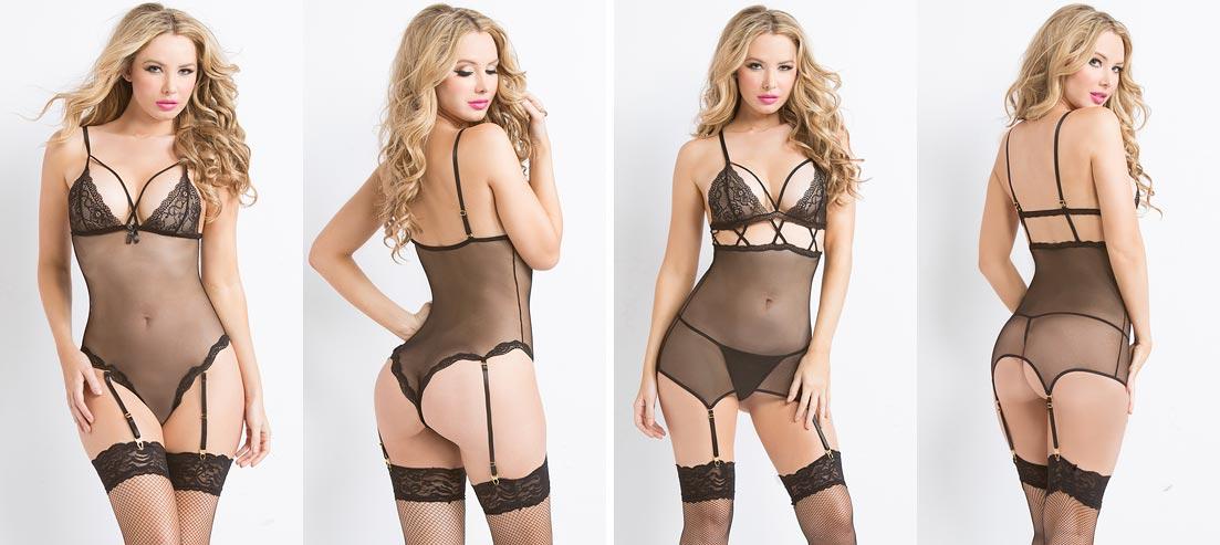 Модели в эротическом нижнем белье