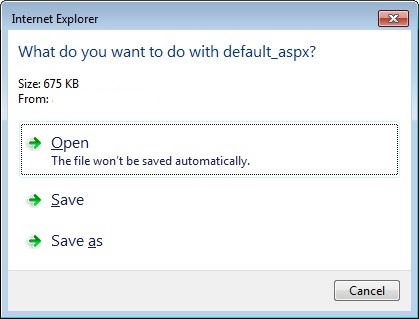 Upgraded to IE 11 - Can no longer open, save or save as