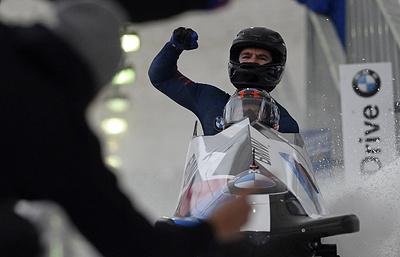 Россияне Касьянов иПушкарев заняли пятое место наэтапе КМпобобслею вСША