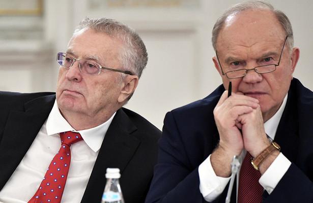 Зюганов заявил онежелании работать сЖириновским