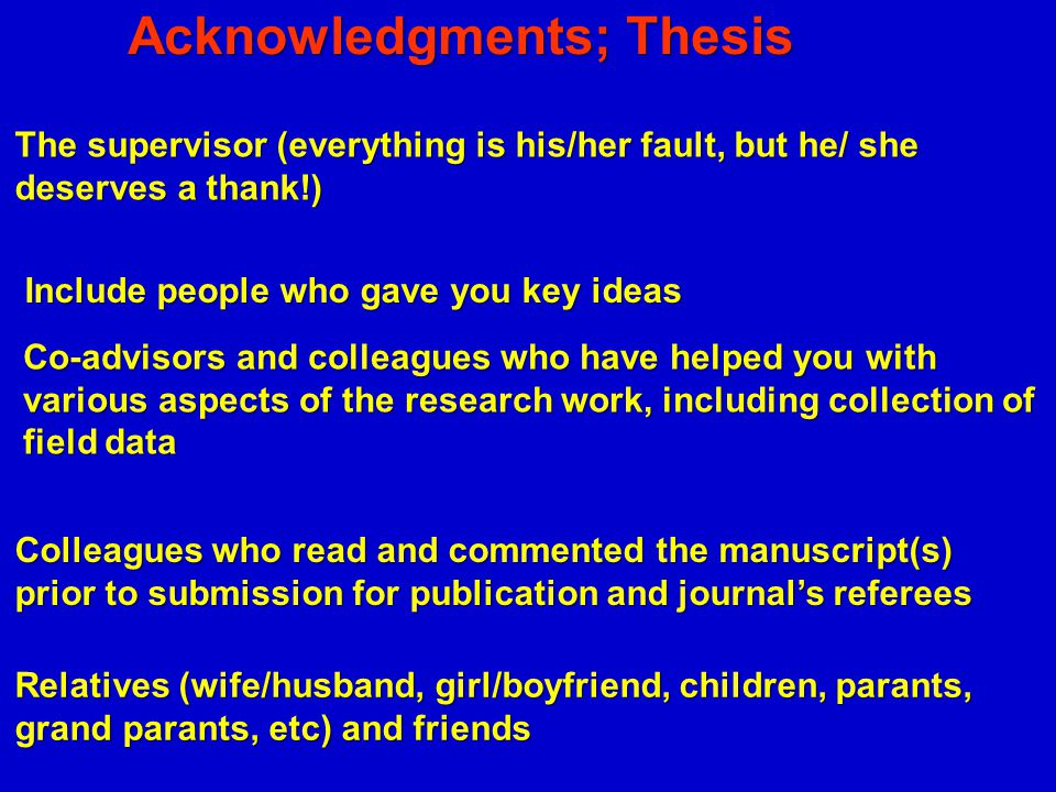 Should a bachelor's or master's thesis include