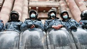ВЕреване произошла потасовка между полицией ипротестующими