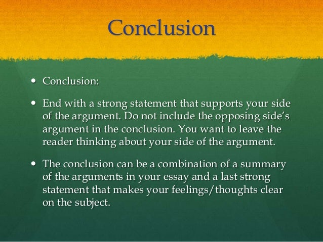 How to write an argument essay thesis
