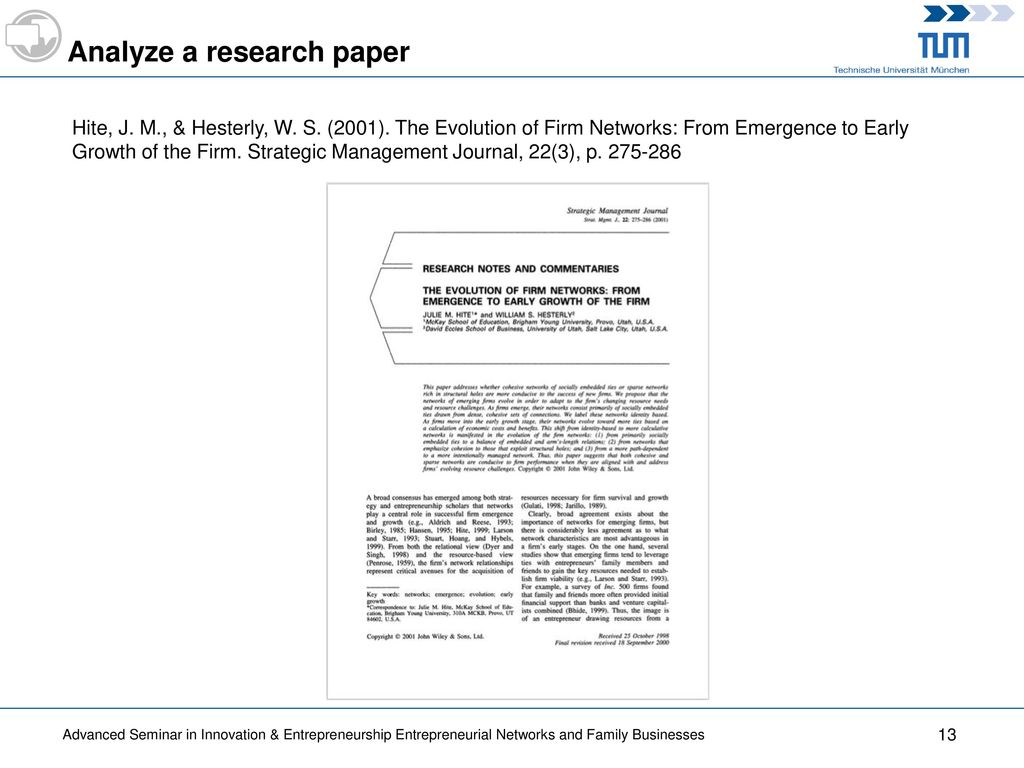 Evolution research paper