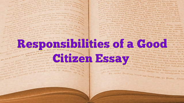 Essays about responsibility