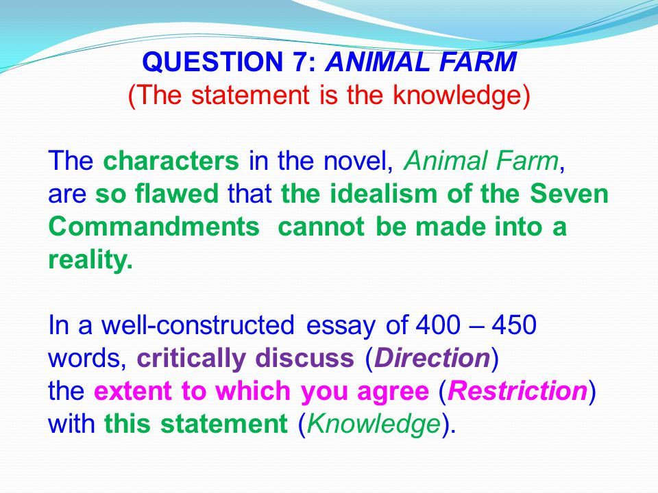 Write my animal farm thesis