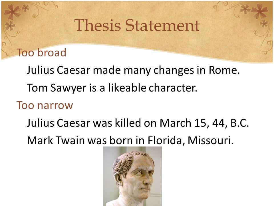 Julius caesar thesis