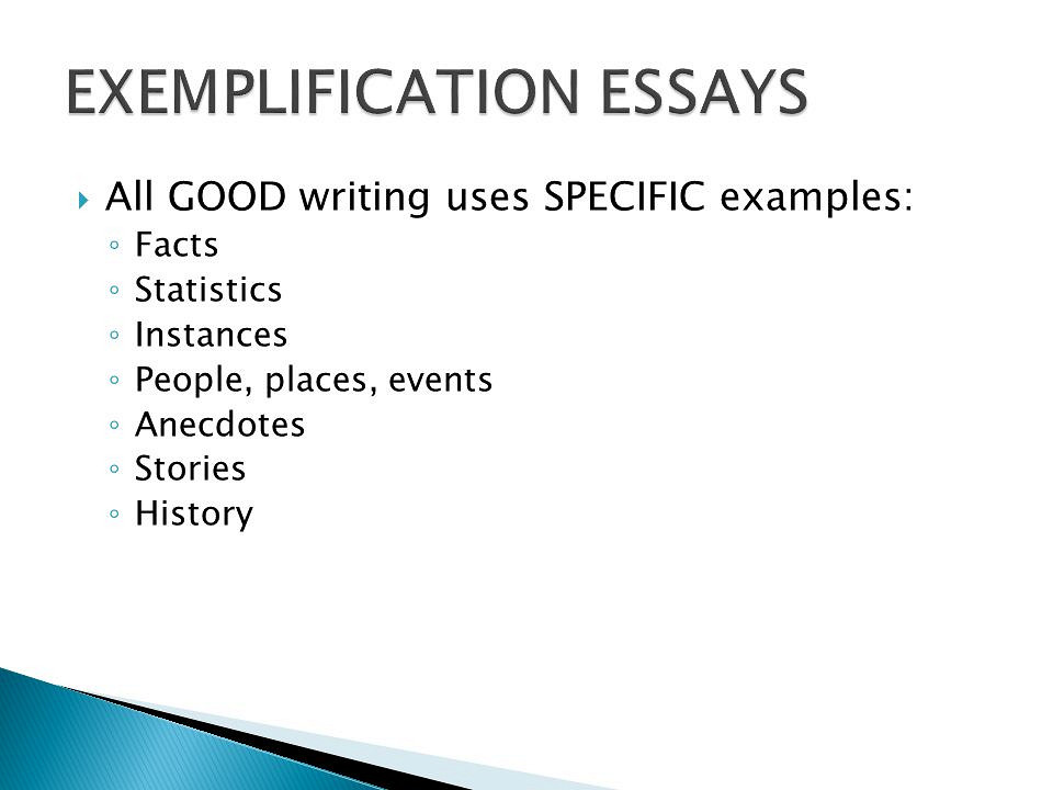 How to Write an Exemplification Essay - Tips, Topics