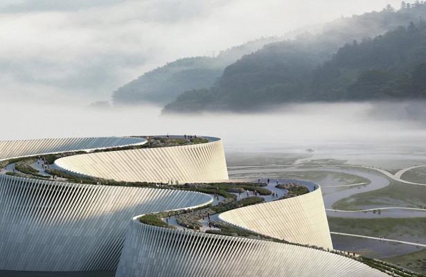 ВКитае построят музей вформе огромной волны