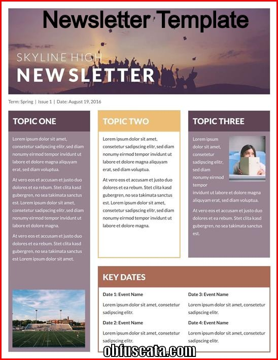 Free Newsletter Templates - Download Free Newsletter