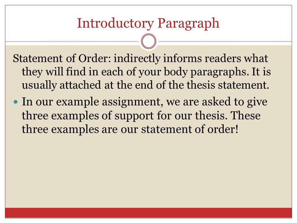 Thesis Statement for Argumentative Essay - Scribd