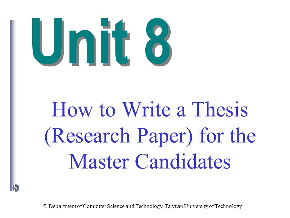 What is the difference between thesis, research paper