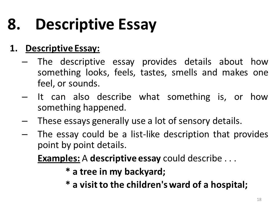 Descriptive essay pictures
