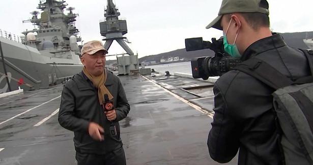 Впервые вистории: иностранные журналисты посетили флагман Северного флота «Петр Великий»