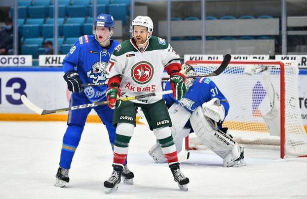 «АкБарс» навыезде обыграл «Барыс» вматче КХЛ
