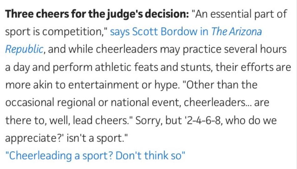 Cheerleading isnt a sport persuasive essay, who can