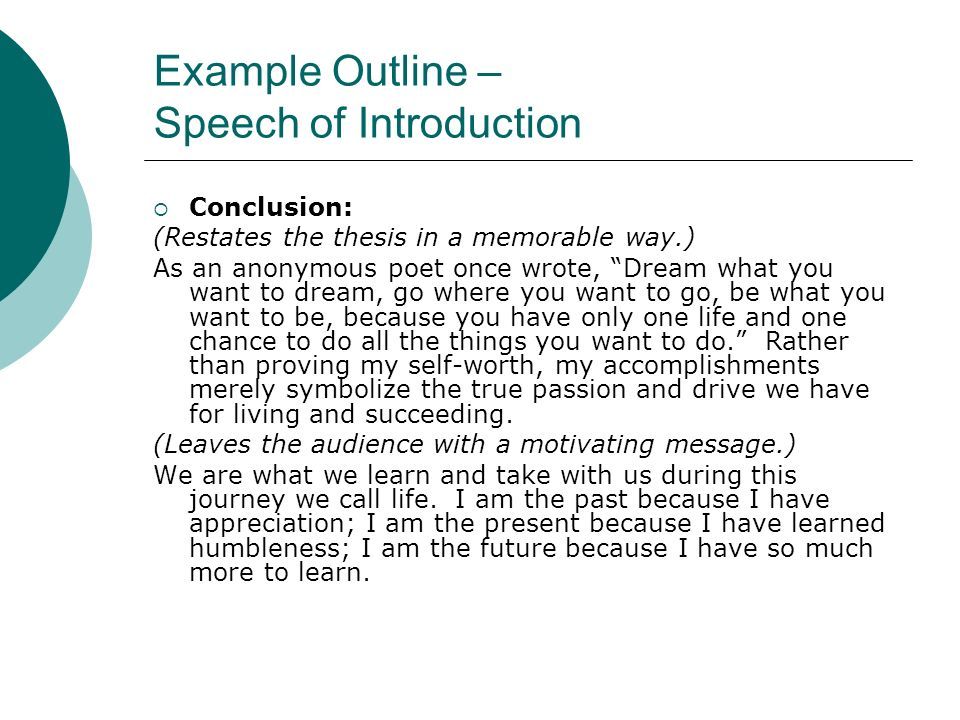 Speech writing and public speaking