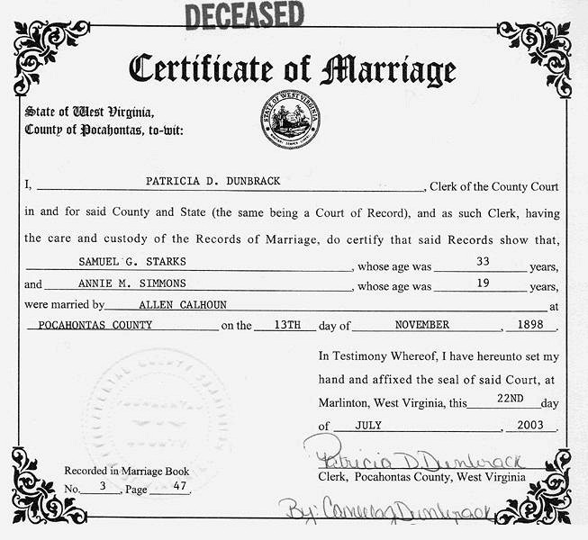 Marriage License In Virginia State