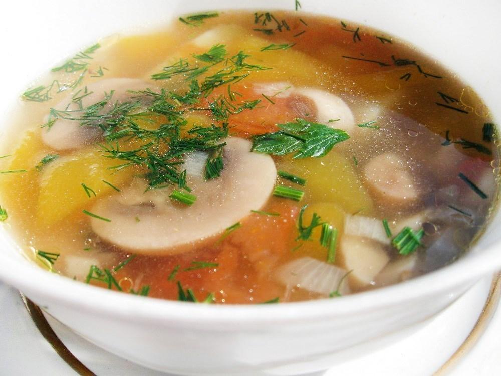 суп грибной из шампиньонов видео рецепт