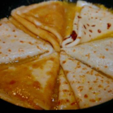 Рецепт Апельсиновые блины (Креп сюзет)