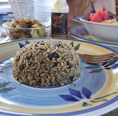 Рецепт Ароматный рис сфасолью