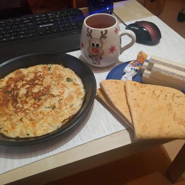 Рецепт Омлет ссыром ибелым хлебом