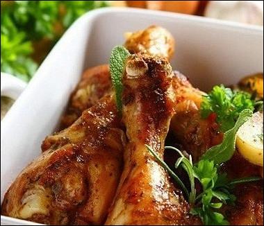 Рецепт Ароматная курица скартофелем по‑итальянски