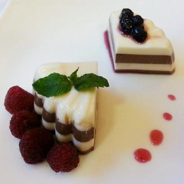 Рецепт Шоколадно-ванильная панна-котта