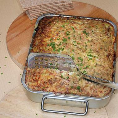Рецепт Картофельная запеканка сговядиной ианчоусами