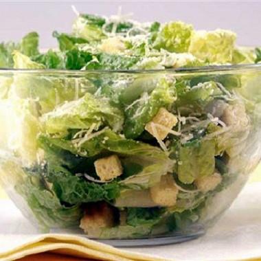 Рецепт Быстрый зеленый салат светчиной