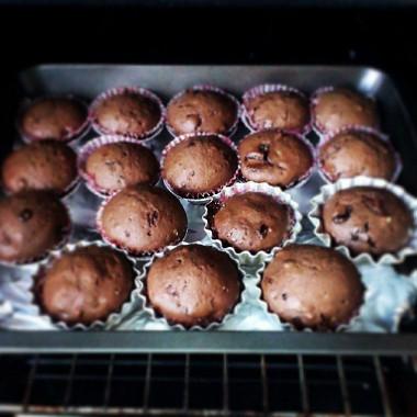 Рецепт Быстрые шоколадные маффины