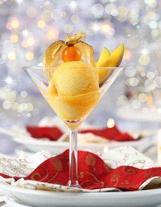 Шербет из печеного манго