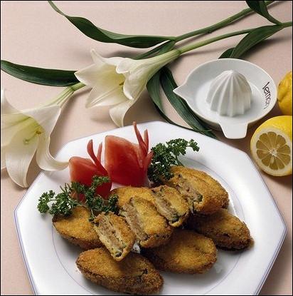 Куриные зразы с грибной начинкой