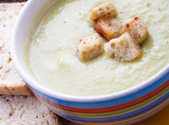 Крем-суп из спаржи с петрушкой