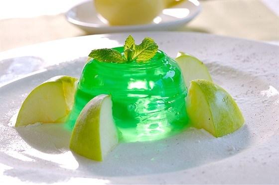 Желе из зеленых яблок