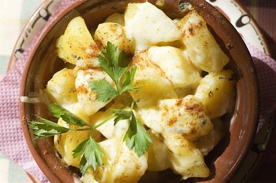 Печеный картофель с шафраном
