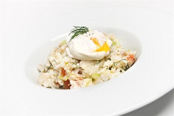 Рис с яйцом пашот