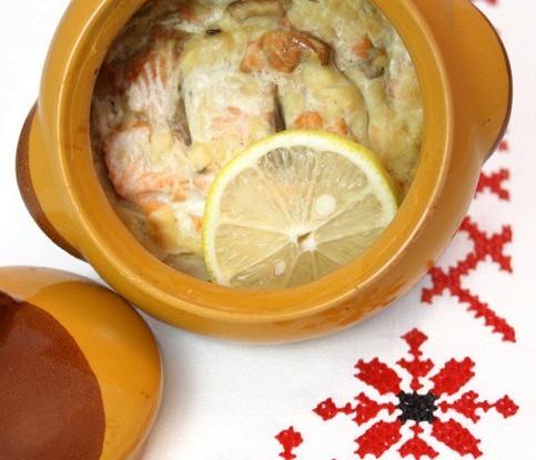 Горячая закуска с лососем