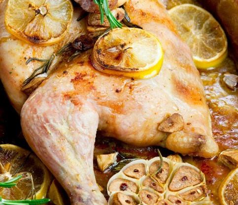 Цыпленок с лимоном и эстрагоном