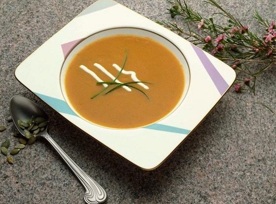 Суп с тыквой и кумкватом