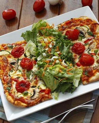 Пицца с овощами и рисом вегетарианская