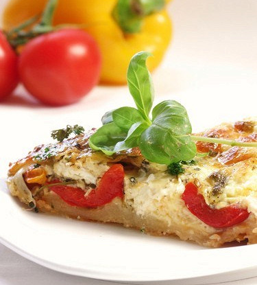 Пицца с фетой по-гречески