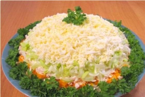 салат из окорочка отварного