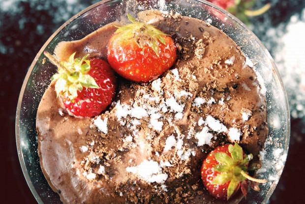Шоколадный мусс со сливками